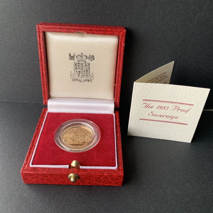 1983  Proof Full Gold Sovereign